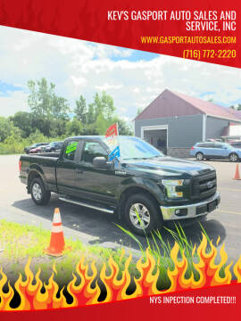 2015 Ford F-150 for sale at KEV'S GASPORT AUTO SALES AND SERVICE, INC in Gasport NY