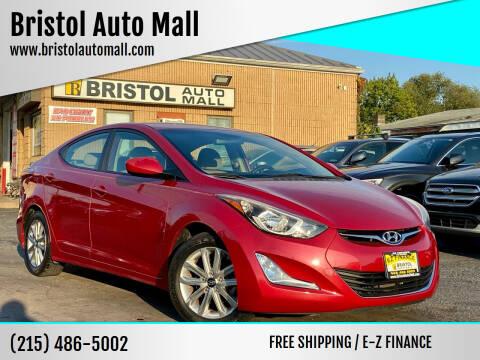 2015 Hyundai Elantra for sale at Bristol Auto Mall in Levittown PA