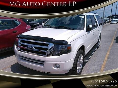 2014 Ford Expedition EL for sale at MG Auto Center LP in Lake Park FL