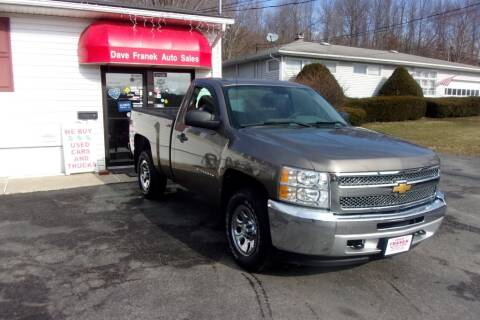 2012 Chevrolet Silverado 1500 for sale at Dave Franek Automotive in Wantage NJ