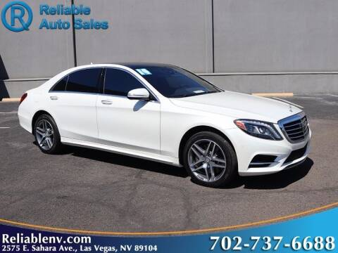 2014 Mercedes-Benz S-Class for sale at Reliable Auto Sales in Las Vegas NV