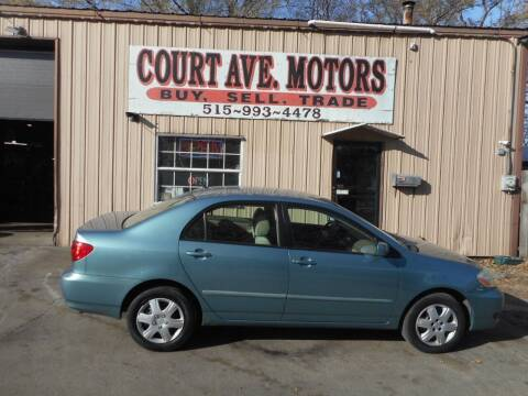 2006 Toyota Corolla for sale at Court Avenue Motors in Adel IA