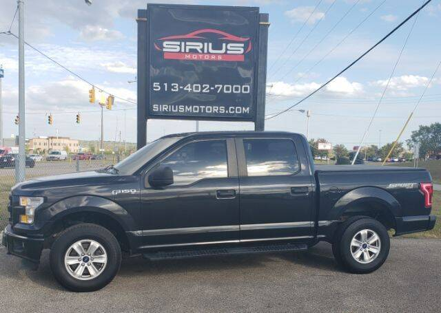2015 Ford F-150 for sale at SIRIUS MOTORS INC in Monroe OH
