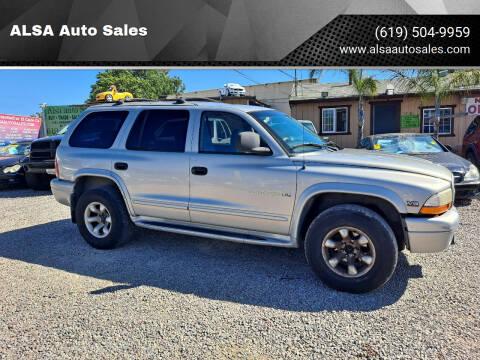 1998 Dodge Durango for sale at ALSA Auto Sales in El Cajon CA