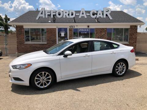 2017 Ford Fusion for sale at Afford-A-Car in Dayton/Newcarlisle/Springfield OH