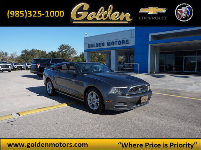 2013 Ford Mustang for sale at GOLDEN MOTORS in Cut Off LA