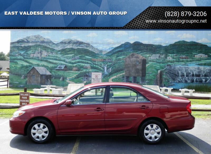2004 Toyota Camry for sale at EAST VALDESE MOTORS / VINSON AUTO GROUP in Valdese NC