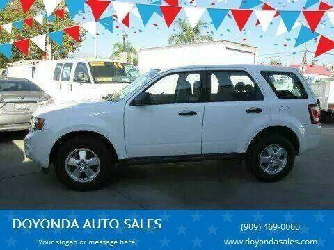 2010 Ford ESCAPE XLS SPORT for sale at DOYONDA AUTO SALES in Pomona CA
