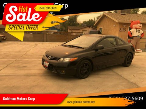 2008 Honda Civic for sale at Goldman Motors Corp in Stockton CA