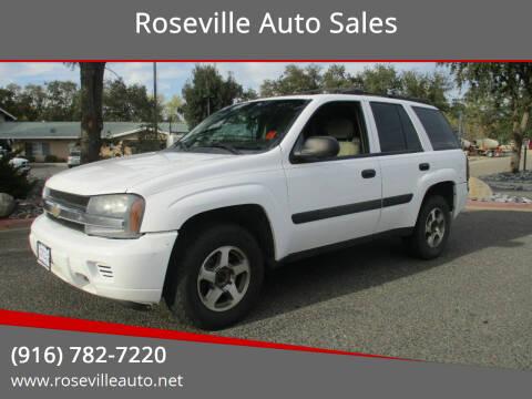 2005 Chevrolet TrailBlazer for sale at Roseville Auto Sales in Roseville CA