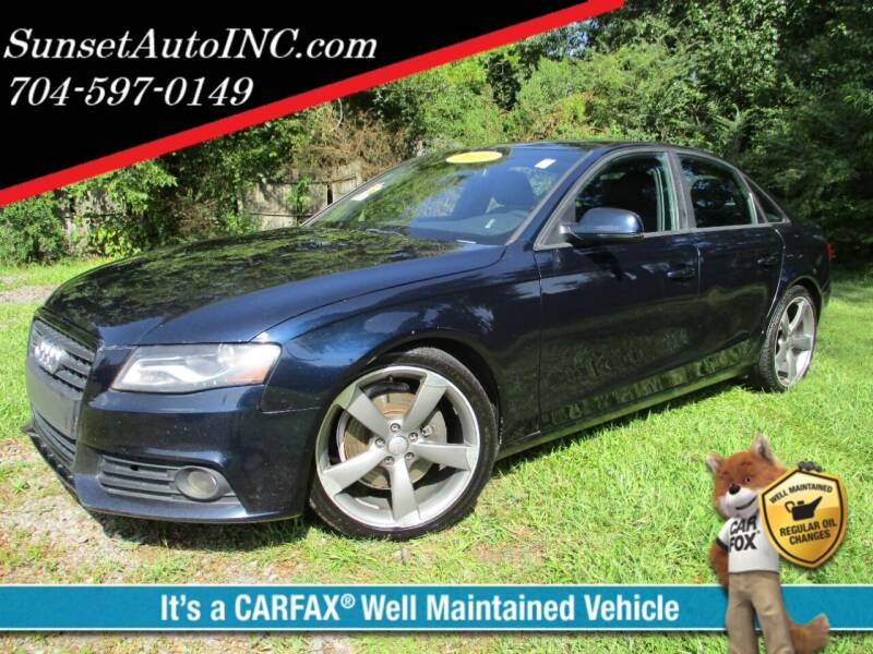 2011 Audi A4 for sale at Sunset Auto in Charlotte NC