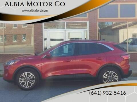 2020 Ford Escape for sale at Albia Motor Co in Albia IA