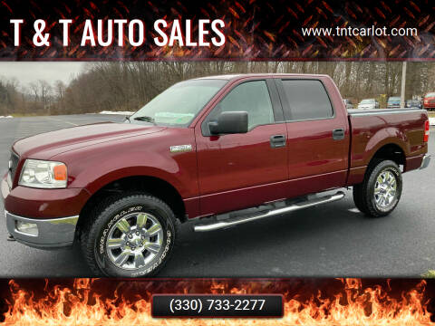 2004 Ford F-150 for sale at T & T Auto Sales in Akron OH