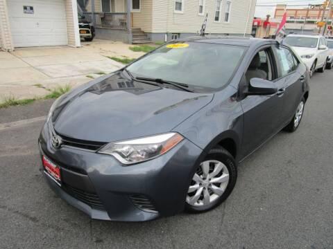2016 Toyota Corolla for sale at Dina Auto Sales in Paterson NJ