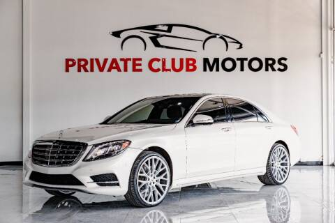 2015 Mercedes-Benz S-Class for sale at Private Club Motors in Houston TX