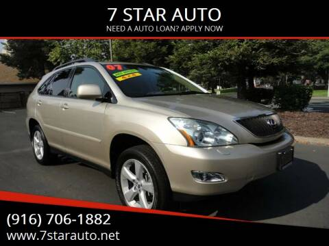2007 Lexus RX 350 for sale at 7 STAR AUTO in Sacramento CA
