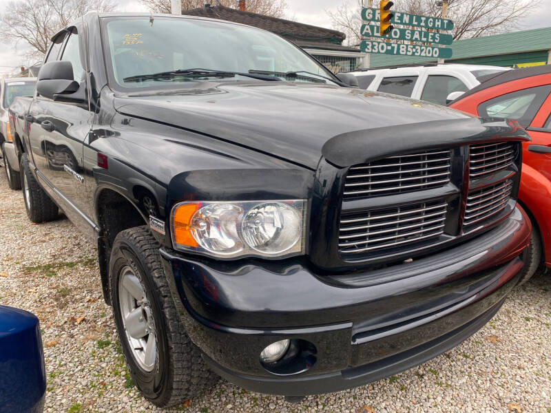 2003 Dodge Ram Pickup 1500 for sale at GREENLIGHT AUTO SALES in Akron OH
