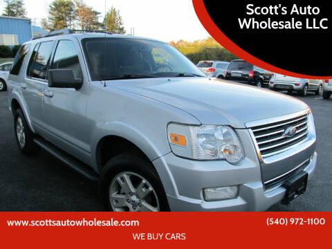 2010 Ford Explorer for sale at Scott's Auto Wholesale LLC in Locust Grove VA