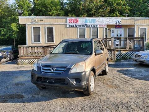 2005 Honda CR-V for sale at Seven and Below Auto Sales, LLC in Rockville MD