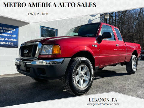 2004 Ford Ranger for sale at METRO AMERICA AUTO SALES of Lebanon in Lebanon PA