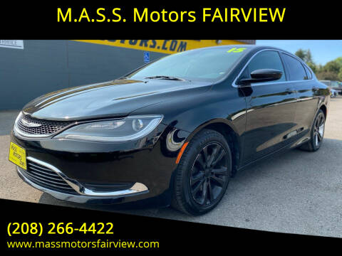 2015 Chrysler 200 for sale at M.A.S.S. Motors - Fairview in Boise ID