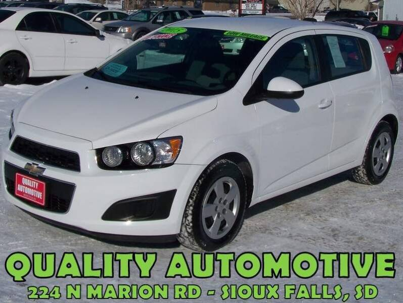 2015 Chevrolet Sonic for sale at Quality Automotive in Sioux Falls SD