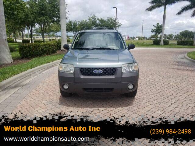2006 Ford Escape for sale at Used Cars Cape Coral -- World Champions Auto Inc in Cape Coral FL