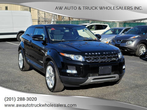 2013 Land Rover Range Rover Evoque Coupe for sale at AW Auto & Truck Wholesalers  Inc. in Hasbrouck Heights NJ
