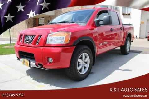 2012 Nissan Titan for sale at K & L Auto Sales in Saint Paul MN