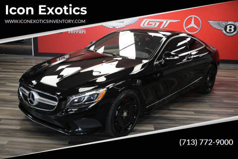 2015 Mercedes-Benz S-Class for sale at Icon Exotics in Houston TX