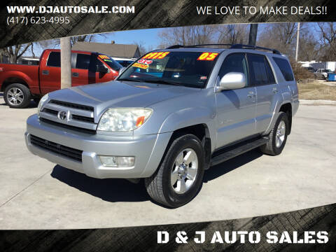 2005 Toyota 4Runner for sale at D & J AUTO SALES in Joplin MO