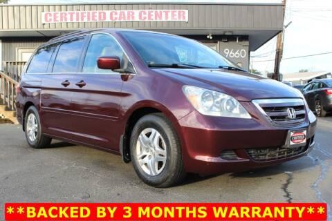 2007 Honda Odyssey for sale at CERTIFIED CAR CENTER in Fairfax VA
