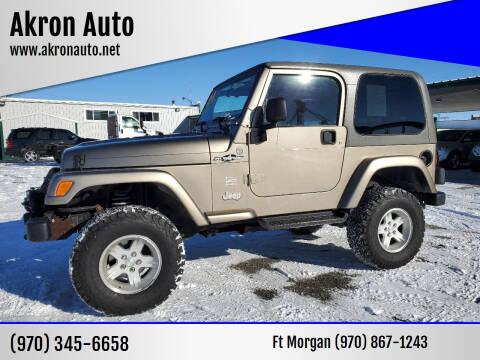 2004 Jeep Wrangler for sale at Akron Auto in Akron CO