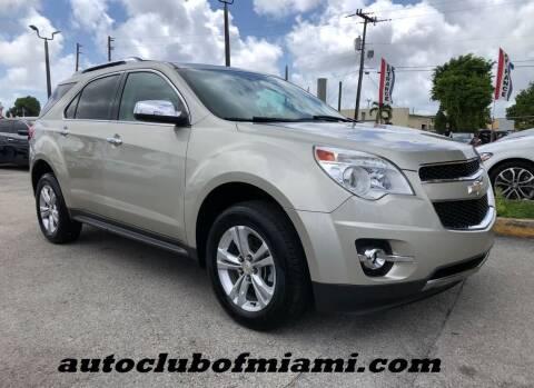 2013 Chevrolet Equinox for sale at AUTO CLUB OF MIAMI, INC in Miami FL