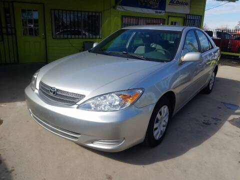 2004 Toyota Camry for sale at RODRIGUEZ MOTORS CO. in Houston TX