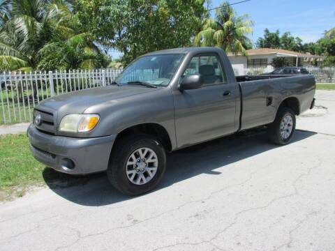 2003 Toyota Tundra for sale at TROPICAL MOTOR CARS INC in Miami FL