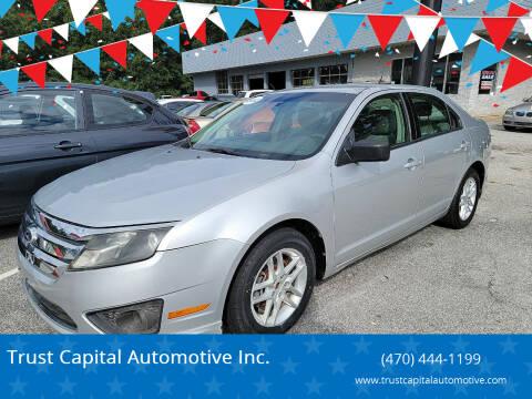 2012 Ford Fusion for sale at Trust Capital Automotive Inc. in Covington GA