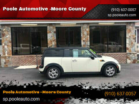2013 MINI Clubman for sale at Poole Automotive in Laurinburg NC