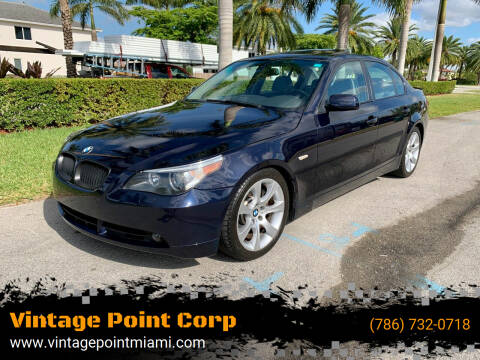 2005 BMW 5 Series for sale at Vintage Point Corp in Miami FL