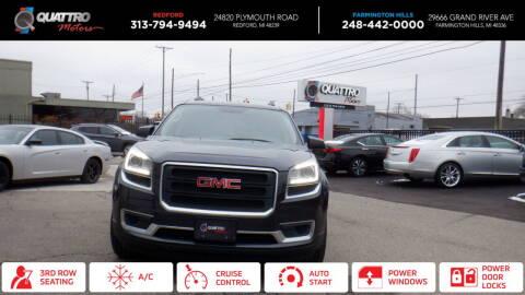 2014 GMC Acadia for sale at Quattro Motors 2 in Farmington Hills MI