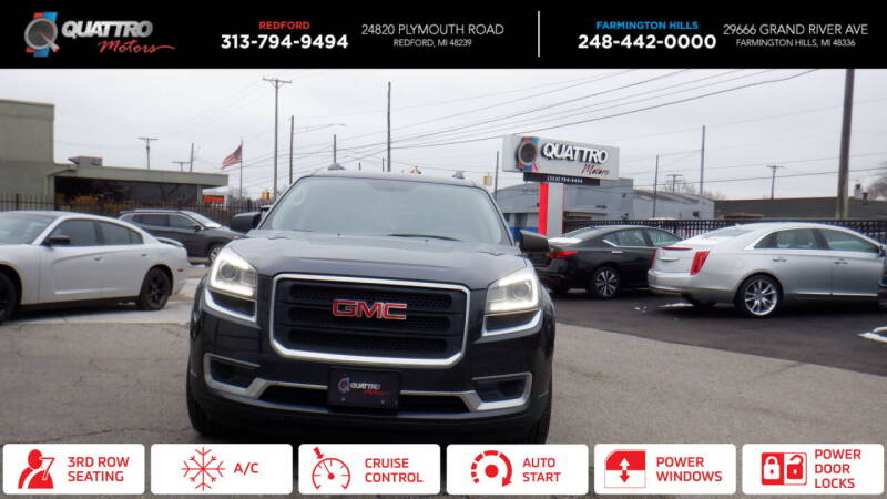 2014 GMC Acadia for sale at Quattro Motors 2 in Farmington Hills MI