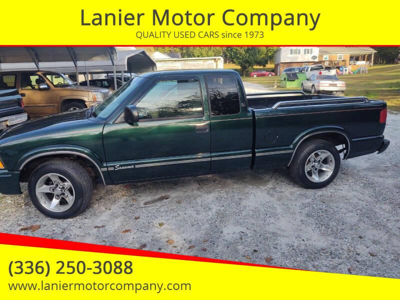 2002 GMC Sonoma for sale at Lanier Motor Company in Lexington NC