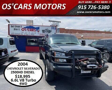 2004 Chevrolet Silverado 2500HD for sale at Os'Cars Motors in El Paso TX