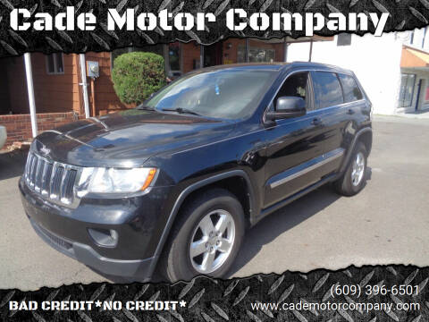 2013 Jeep Grand Cherokee for sale at Cade Motor Company in Lawrence Township NJ