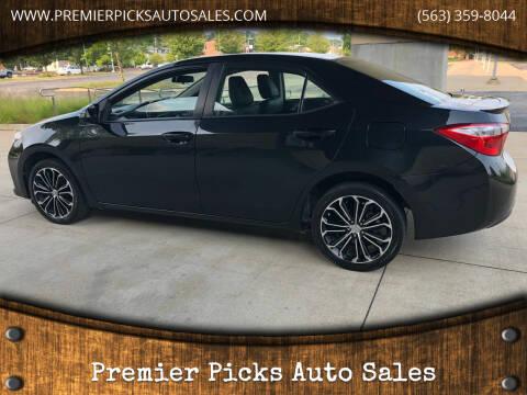 2014 Toyota Corolla for sale at Premier Picks Auto Sales in Bettendorf IA