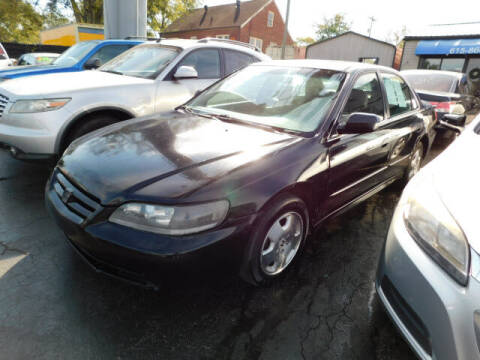 2001 Honda Accord for sale at WOOD MOTOR COMPANY in Madison TN