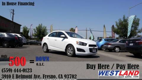 2013 Chevrolet Sonic for sale at Westland Auto Sales in Fresno CA