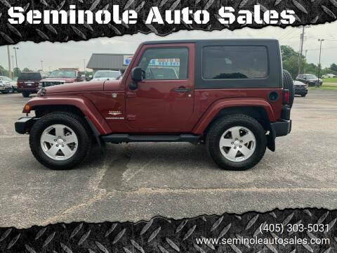 2008 Jeep Wrangler for sale at Seminole Auto Sales in Seminole OK
