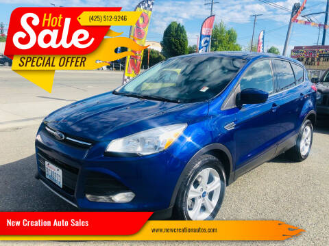2014 Ford Escape for sale at New Creation Auto Sales in Everett WA