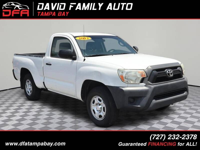 2012 Toyota Tacoma for sale at David Family Auto in New Port Richey FL